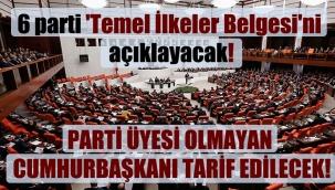 6 parti 'Temel İlkeler Belgesi'ni açıklayacak!